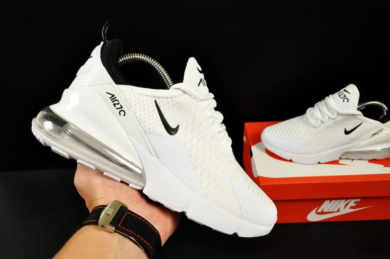 Женские Кроссовки Nike Air Max 270 арт 20631 (женские, белые, найк)