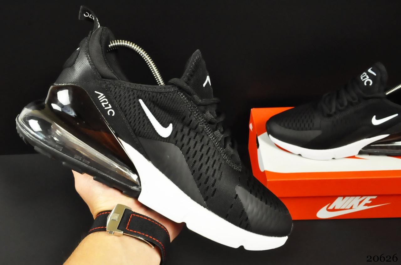 Мужские Кроссовки Nike Air Max 270 арт.20626 (мужские, черные, найк)