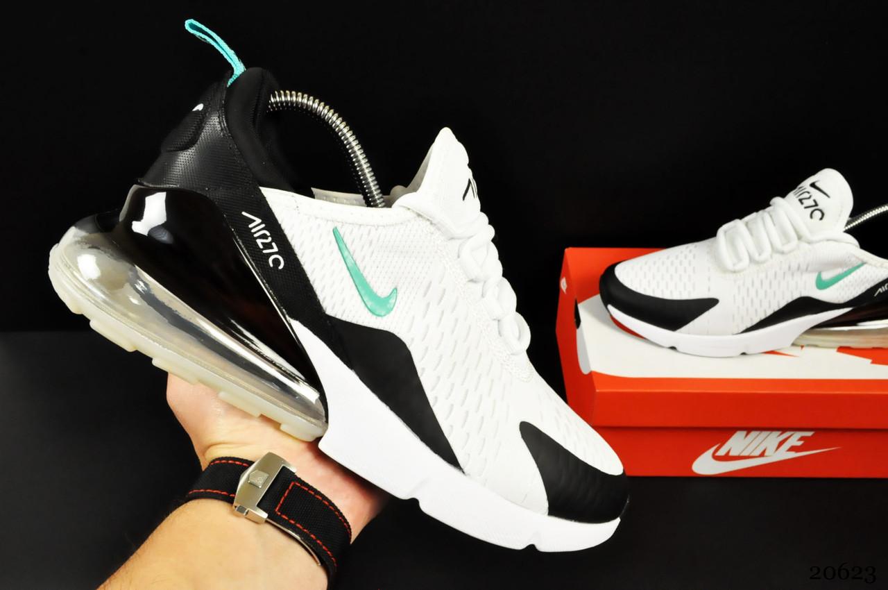 Кроссовки Nike Air Max 270 арт.20623 (мужские, белые, найк)