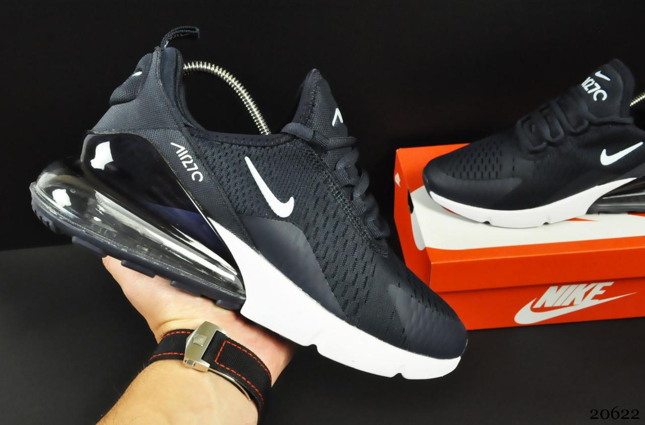 Мужские Кроссовки Nike Air Max 270 арт.20622 (мужские, синие, найк)