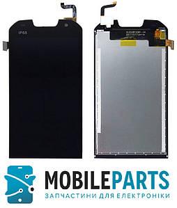Дисплей для Doogee S30 с сенсорным стеклом (Черный) Оригинал Китай