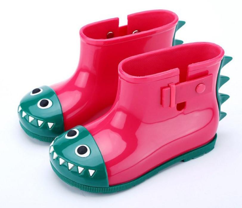 """Дитячі гумові чоботи SUNROZ """"Дракончик"""" 29 Рожевий (SUN5286)"""
