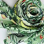 Палантин из вискозы 10807-10, павлопосадский палантин из вискозы, размер 65х200, фото 6