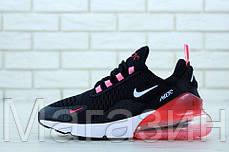 Женские кроссовки Nike Air Max 270 Black/Pink (Найк Аир Макс 270) черные с розовым, фото 3