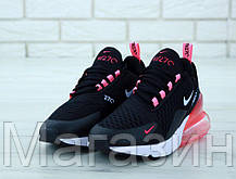 Женские кроссовки Nike Air Max 270 Black/Pink (Найк Аир Макс 270) черные с розовым, фото 2