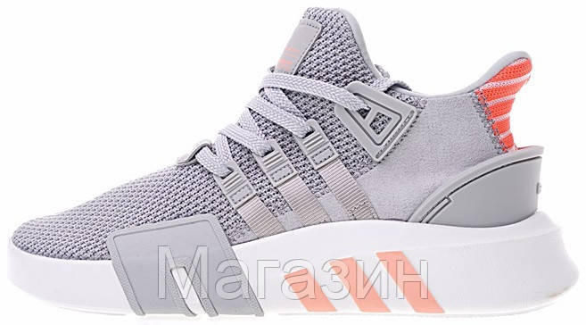 "Женские кроссовки adidas Equipment Bask ADV ""Grey Two / Ftwr White"" AC7351 Адидас серые"