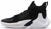 Баскетбольные кроссовки Nike Air Jordan Why Not Zer0.2 The Family Найк Аир Джордан черные с белым 41 размер