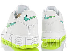 Женские кроссовки Nike Air Force 1 '07 Premium 2 Jelly White/Volt Найк Аир Форс белые, фото 3
