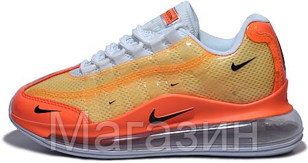 Женские кроссовки Nike Air Max 720/95 Heron Preston By You (Найк Аир Макс 720/95 СТИЛЬ) оранжевые, фото 2