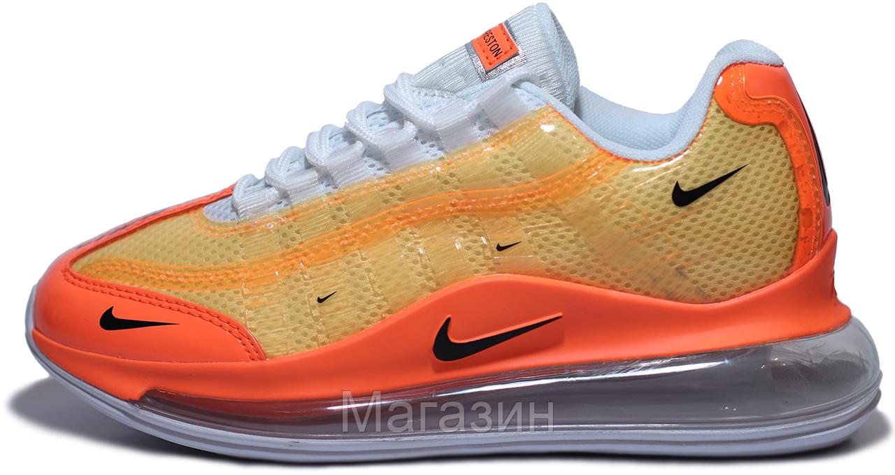 Женские кроссовки Nike Air Max 720/95 Heron Preston By You (Найк Аир Макс 720/95 СТИЛЬ) оранжевые