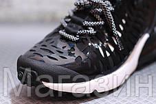 Мужские кроссовки Nike Air Max 270 ISPA Black/White высокие Найк Аир Макс 270 черные, фото 3