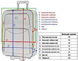 Комплект чемодан и кейс Bonro Style маленький черно-оранжевый (10120105), фото 6