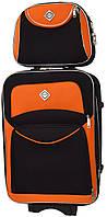Комплект чемодан и кейс Bonro Style большой черно-оранжевый (10120305), фото 1