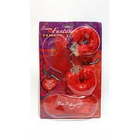 Набор Любви красный (наручники,повязка на глаза,пёрышки)