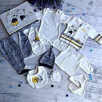 Крестильный костюм,  набор на выписку для мальчика Miniworld 1. Размер 62 см, фото 1