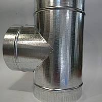 Тройник d 80 мм 90* из оцинкованной стали