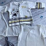 Крестильный костюм,  набор на выписку для мальчика Miniworld 1. Размер 62 см, фото 3