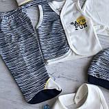 Крестильный костюм,  набор на выписку для мальчика Miniworld 1. Размер 62 см, фото 5