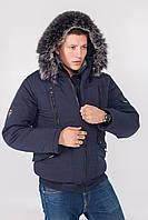 Модная, зимняя, теплая мужская куртка- аляска, бомбер, под резинку,утеплитель  холлофайбер  р-  48,50,52,54,56