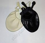Получешки ( полубалетки) кожаные черные разм. 24-26 см, фото 3
