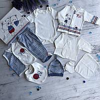 Крестильный костюм,  набор на выписку для мальчика Miniworld 2. Размер 62 см, фото 1