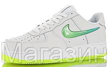 Мужские кроссовки Nike Air Force 1 07 Premium 2 Jelly White Volt Найк Аир Форс белые, фото 2