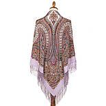 Великолепный век 1867-15, павлопосадский платок (шаль, крепдешин) шелковый с шелковой бахромой, фото 7