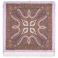 Великолепный век 1867-15, павлопосадский платок (шаль, крепдешин) шелковый с шелковой бахромой, фото 1
