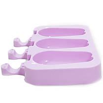 ➣Силиконовая форма для мороженого CUMENSS Кролик Pink на палочке 3 порции, фото 2