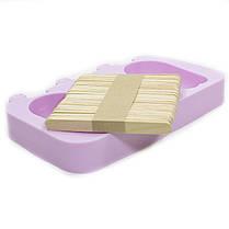 ➣Силиконовая форма для мороженого CUMENSS Кролик Pink на палочке 3 порции, фото 3