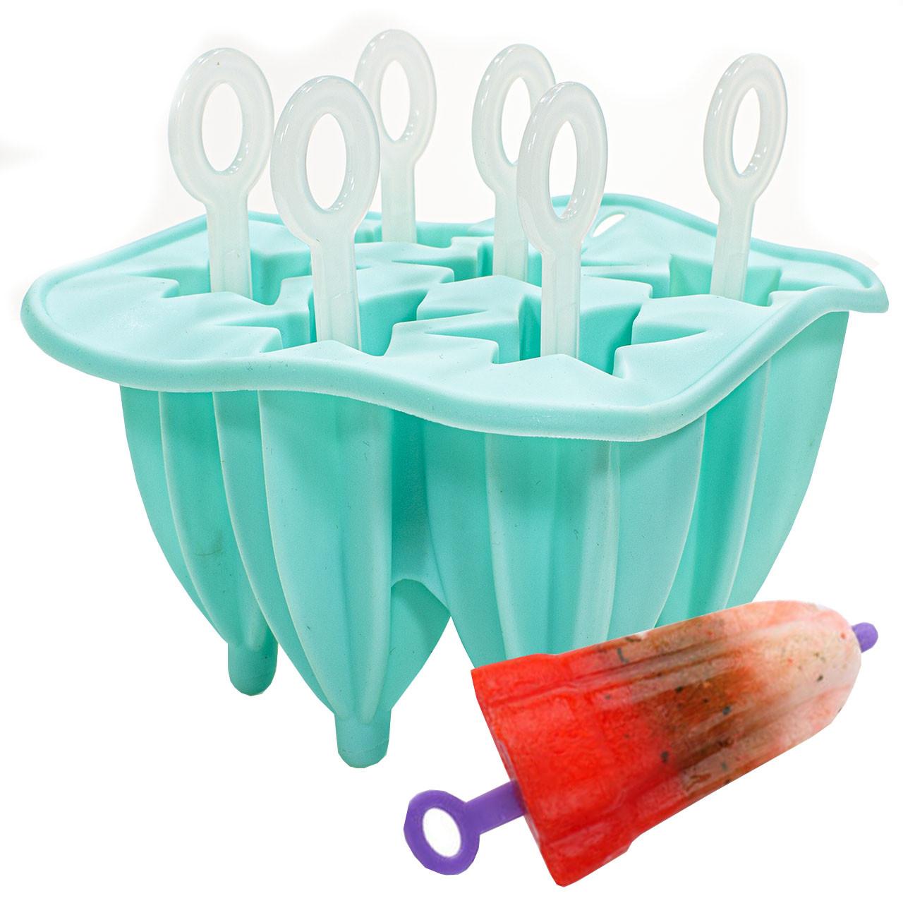 ➤Силиконовая форма для мороженого CUMENSS Blue Звезда на палочке 6 шт