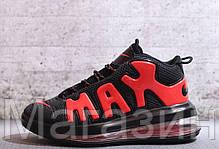Мужские кроссовки Nike Air More Uptempo 720 QS 2 Black/Red Найк Аир Аптемпо 720 черные, фото 2