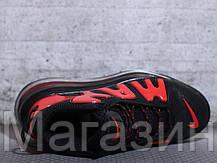 Мужские кроссовки Nike Air More Uptempo 720 QS 2 Black/Red Найк Аир Аптемпо 720 черные, фото 3