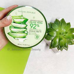 Гель для лица и тела Nature Republic Soothing & Moisture Aloe Vera 92% soothing gel