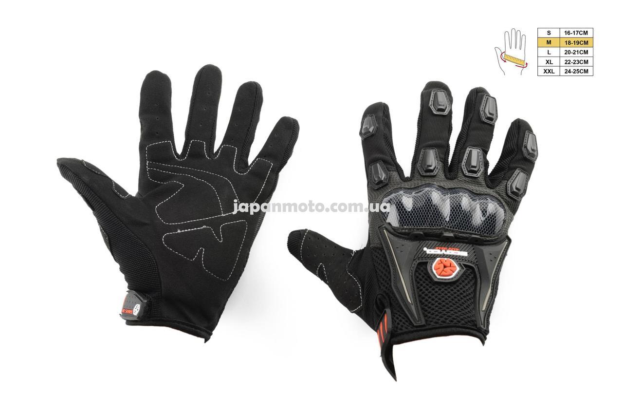 Рукавиці (Перчатки) SCOYCO (size:M, чорні, текстиль)