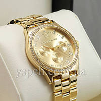 Женские Часы Michael Kors Diamonds Gold/Gold