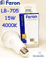 Светодиодная лампа типа А70 Feron LB-705 15W 4000K  для общего и декоративного освещения