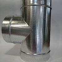 Тройник d 110 мм 90* из оцинкованной стали