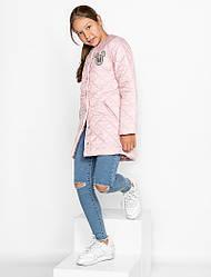 Детское стеганое пальто демисезонное для девочки | размеры 134-152