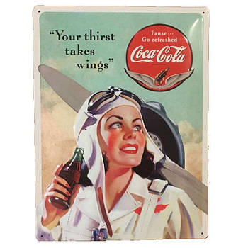 Табличка Nostalgic-Art Coca-Cola Beauties Wings