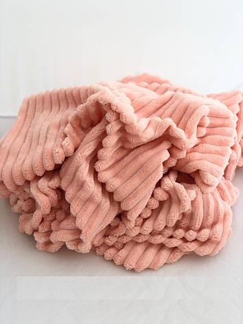 Плюшевый чехол на кушетку 80 см на 200 см - персиковый (шарпей), фото 2