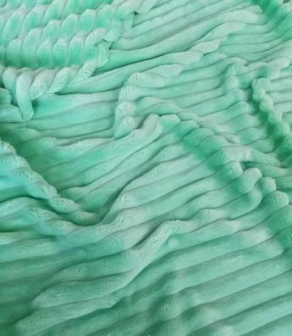 Плюшевый чехол на кушетку 80 см на 200 см - мятный (шарпей), фото 2