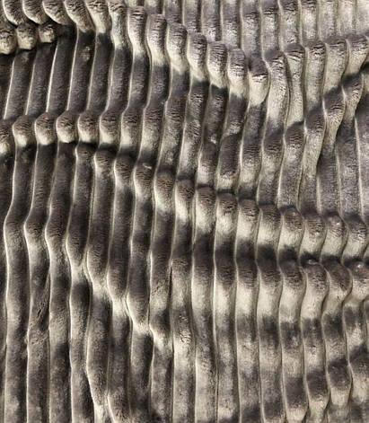 Плюшевый чехол на кушетку 80 см на 200 см - шоколадный (шарпей), фото 2