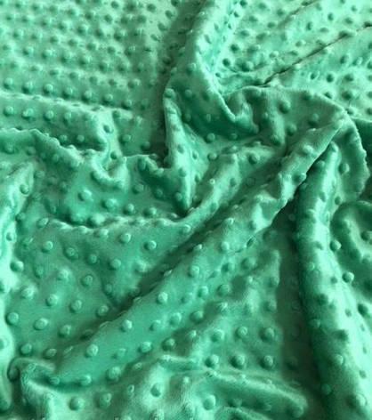 Плюшевый чехол на кушетку 80 см на 200 см - мятный темный в пупырышку, фото 2