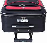 Дорожный чемодан на колесах тканевый Bonro Style небольшой черно-серый, фото 5