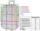 Дорожный чемодан на колесах тканевый Bonro Style небольшой черно-серый, фото 8