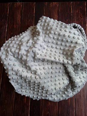 Плюшевый чехол на кушетку 80 см на 200 см - светло -серый в пупырышку, фото 2