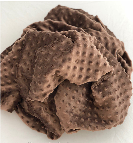 Плюшевый чехол на кушетку 80 см на 200 см - коричневый в пупырышку, фото 2