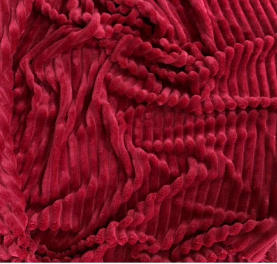 Плюшевый чехол на кушетку 80 см на 200 см - спелая вишня (шарпей)