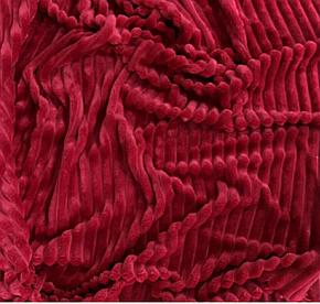 Плюшевый чехол на кушетку 80 см на 200 см - спелая вишня (шарпей), фото 2